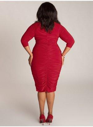 IGIGI Felina Plus Size Dress in Crimson