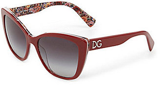 Dolce & Gabbana Painted Mosaico Collection Square Sunglasses