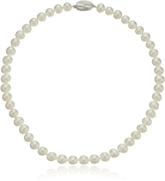 Honora Classic Pearl Jewelry White Freshwater Cultured Pearl 8mm Necklace 16""