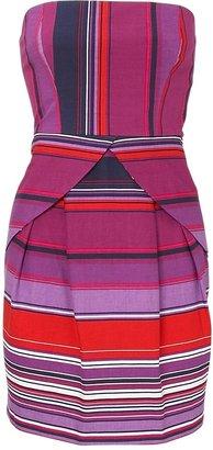 Oasis Stripe Peplum Bandeau Dress