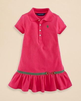 Ralph Lauren Girls' Stretch Mesh Polo Dress - Sizes 2-6X