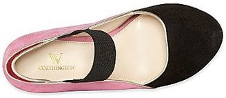 JCPenney Worthington® Saturn Multitone Wedge Pumps