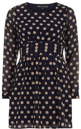 Dorothy Perkins Mela Blue spot dress