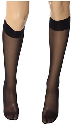 Wolford Satin Touch 20 Knee-Highs (Admiral) Women's Knee High Socks Shoes