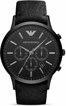 Emporio Armani Quartz Chronograph Green IP Stainless Steel Watch, 43 x 51 mm