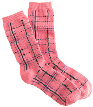 J.Crew Plaid trouser socks