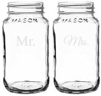 Cathy's Concepts 'For the Couple' Mason Jar Mugs (Set of 2)