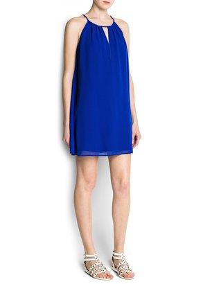 MANGO Halter neck double layer dress