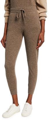 Monrow Cashmere-Blend Sporty Sweatpants