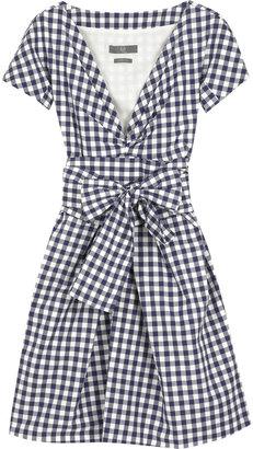 McQ by Alexander McQueen V-neck gingham dress