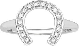 JCPenney FINE JEWELRY ASPCA Tender Voices 1/10 CT. T.W. Diamond Horseshoe Ring