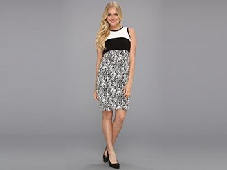 Calvin Klein Women's Color-Block Jacquard Dress