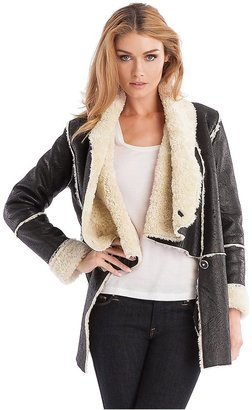 GUESS by Marciano Faux-Shearling Coat