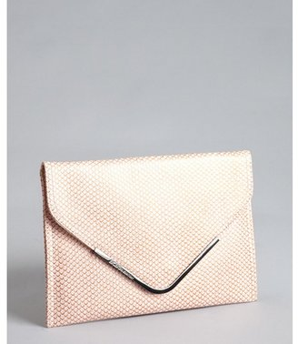 BCBGeneration coral snake embossed faux leather envelope clutch