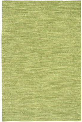 India Cotton Rug in Lime Green