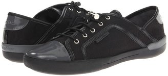 Calvin Klein Nia (Black/Grey Jacquard/Patent) - Footwear