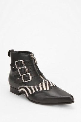 Underground Zebra Print Ankle Boot