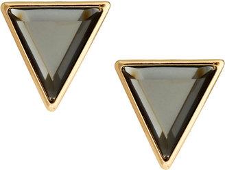 Asos Stone Triangle Stud Earrings