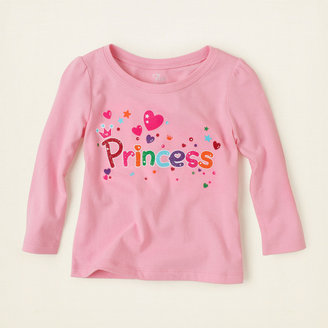 Children's Place Princess hearts graphic tee