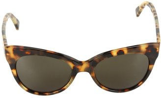 Norma Kamali KAMALIKULTURE by Square Cat Eye Sunglasses Plastic Frame Fashion Sunglasses