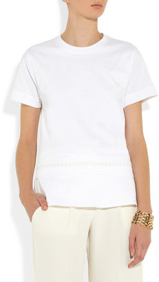 Chloé Embroidered cotton T-shirt