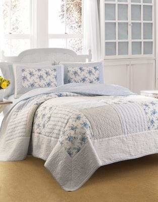 Laura Ashley Seraphina Floral Damask Quilt