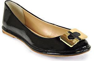 Diane von Furstenberg Brooke - Black Patent Leather Ballet Flat