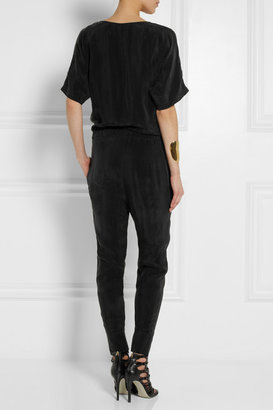 Karl Lagerfeld Mila washed-satin jumpsuit