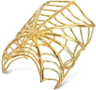 Bernard Delettrez Giant Spiderweb Bronze Cuff Bracelet