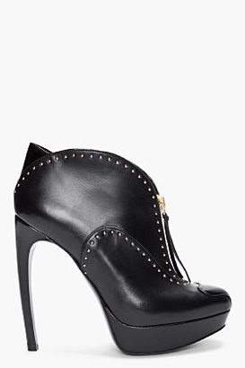 Alexander McQueen Black Studded Leather Pumps