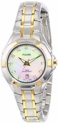 Seiko Pulsar Unisex PH7240 Analog Japanese-Quartz Two Tone Watch