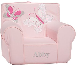 Pottery Barn Kids Pink Butterfly Applique Anywhere Chair