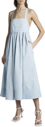Proenza Schouler White Label Washed Cotton Self-Tie Midi Dress