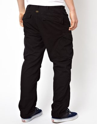 G Star G-Star Loose Fit Cargo Trousers with Belt - Black