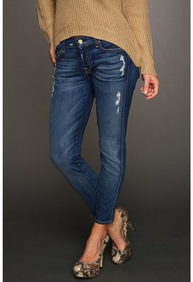 7 For All Mankind Josefina Skinny Boyfriend in Distressed Starry Night (Distressed Starry Night) - Apparel