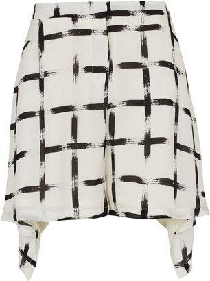 Topshop **Silk Cross Print Shorts by Unique