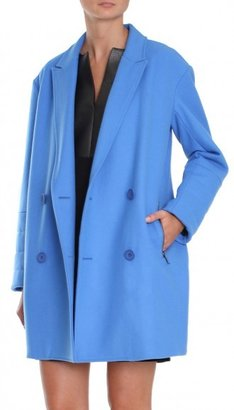 Tibi Felted Wool Sculpted Coat