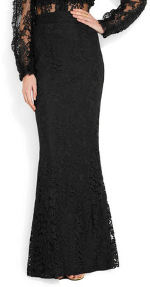 Dolce & Gabbana Lace fishtail maxi skirt