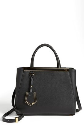 Fendi 'Petite 2Jours Elite' Leather Shopper - Black $1,900 thestylecure.com