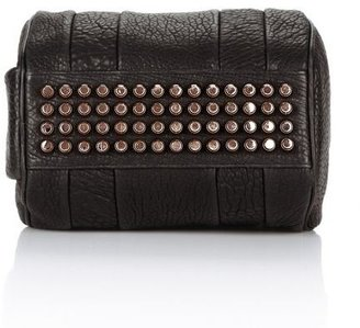 Alexander Wang Rockie In Pebbled Black With Rose Gold