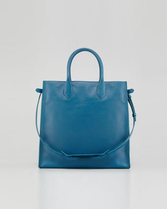 Balenciaga Padlock All Time Tote Bag, Blue Paon
