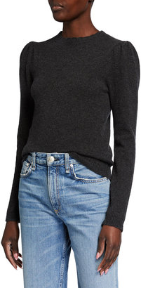 Frame Madeline Cashmere Puff-Sleeve Sweater
