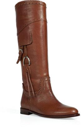 Ralph Lauren Saddle Tumbled Selena Boots