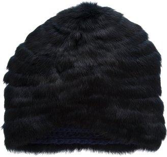 Léa Clément fur hat