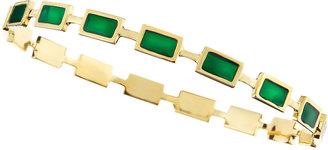 Isharya Prism Enamel Stackable Bangle, Emerald Green