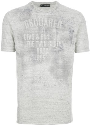 DSquared Dsquared2 faded logo print t-shirt