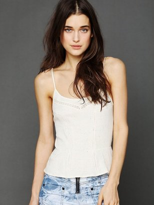 Free People Lace Detail Cami