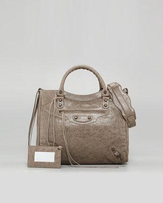 Balenciaga Classic Velo Bag, Gris Poivre