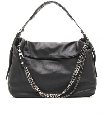 Jimmy Choo LARGE BIKER BOHO LEATHER SHOULDER BAG