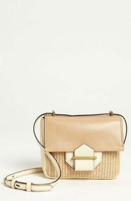 Reed Krakoff 'Standard - Mini' Leather & Raffia Shoulder Bag